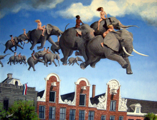 Elephant Race over Amsterdam (0903)