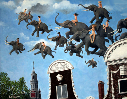 Elephant Race over Amsterdam (1004)