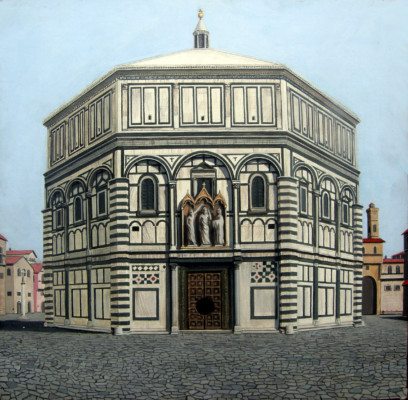 Florence Baptistry (Reconstruction of Brunelleschi's Painting) (8002)