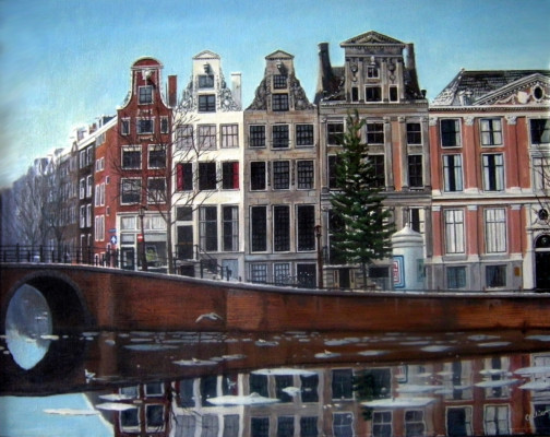 Herengracht with Ice (9801)