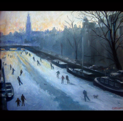 Skaters on the Prinsengracht (9809)
