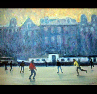 Skaters at Sunset (9811)