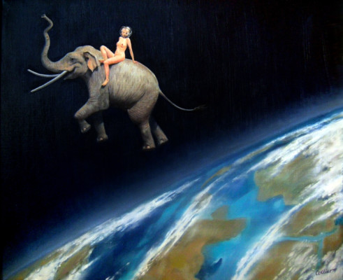 Elephant Girl in Space (9823)