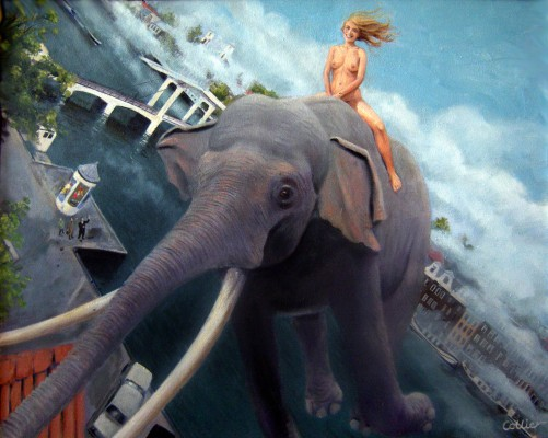 Elephant Girl over the Magere Brug